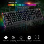 coupon, gearbest, Team Wolf X61 Wired Gaming Mechanical Keyboard Outemu Switch