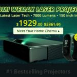 coupon, gearbest, mi band 3, xiaomi, Xiaomi WEMAX ONE MJJGYY01FM Ultra Short Throw 7000 ANSI Lumens Laser Projector + free gift Xiaomi Mi Band 3