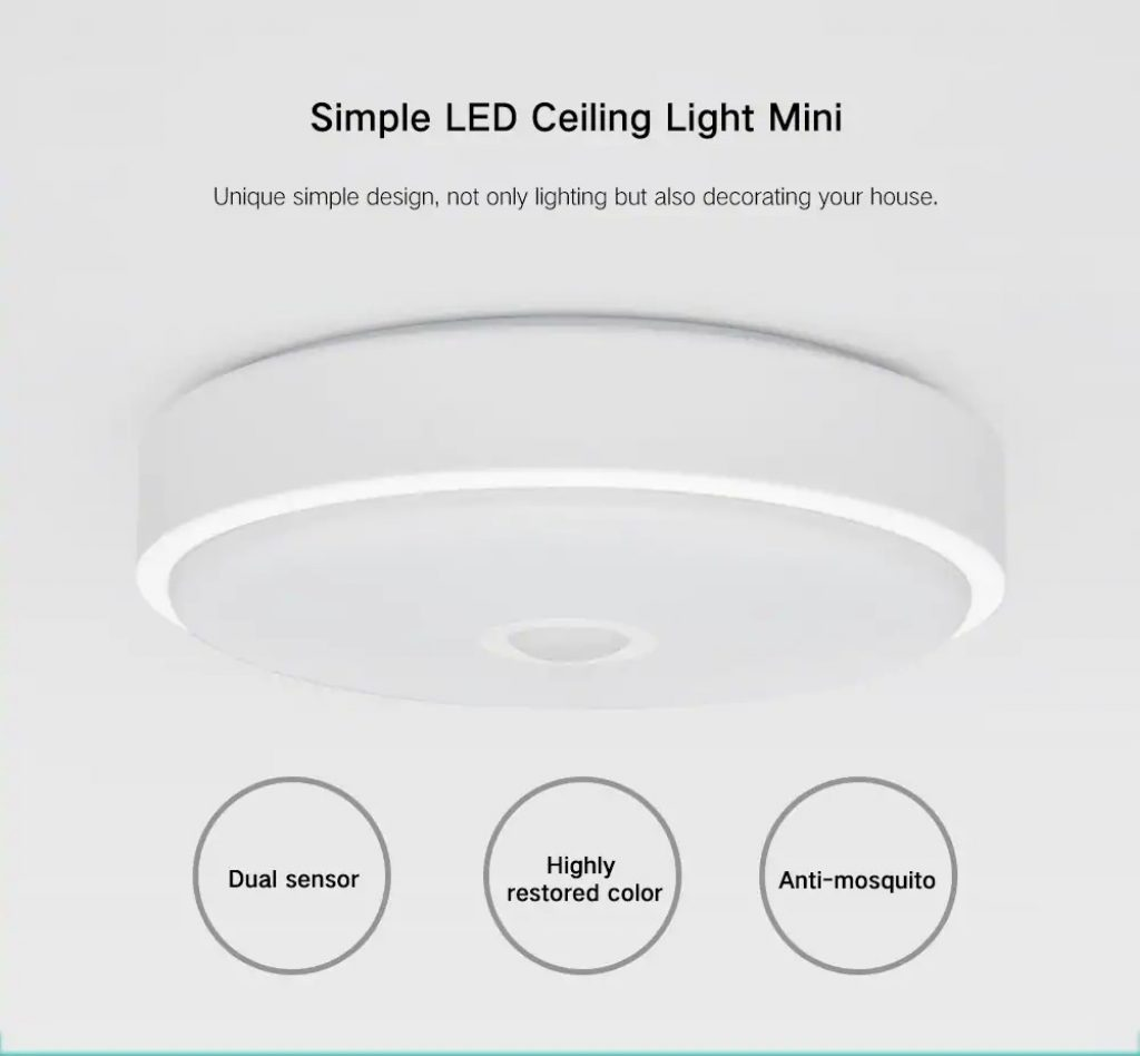 coupon, gearbest, Yeelight Induction LED Ceiling Light Anti-mosquito for Home