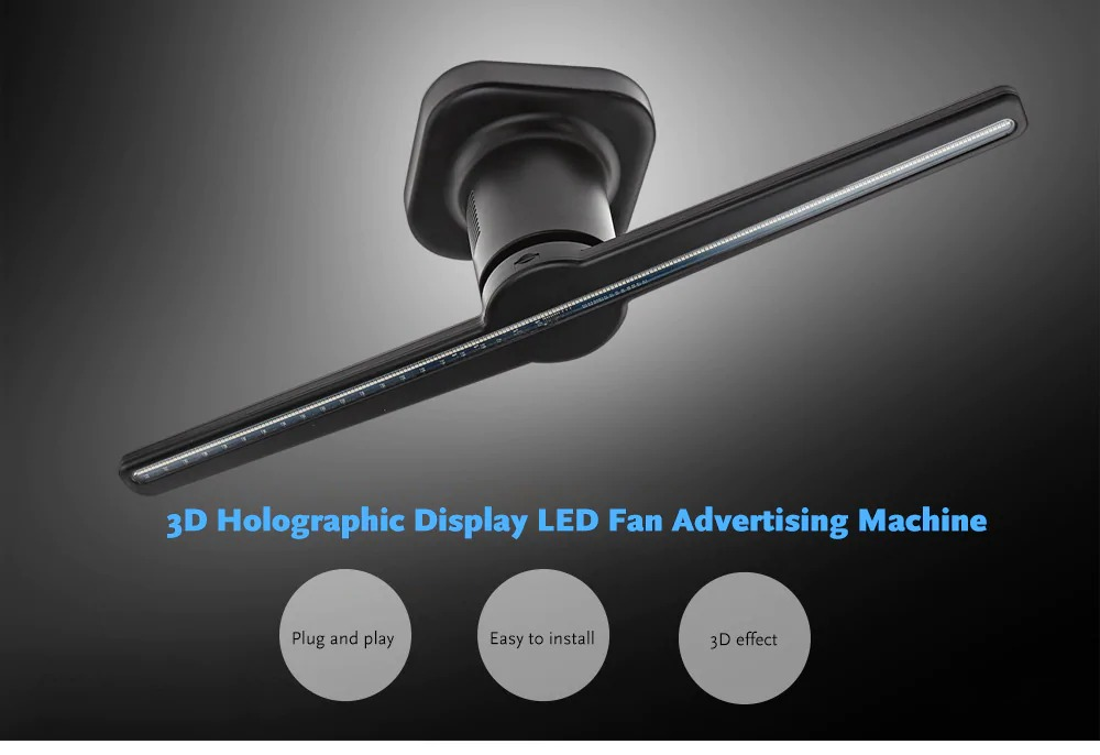 $199 with coupon for 3D Holographic Display LED Fan Advertising Machine AC  100 - 240V from GearBest