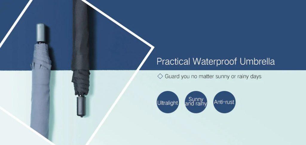 banggood, coupon, gearbest, 90FUN Waterproof Rainy Sunny Umbrella from Xiaomi Youpin