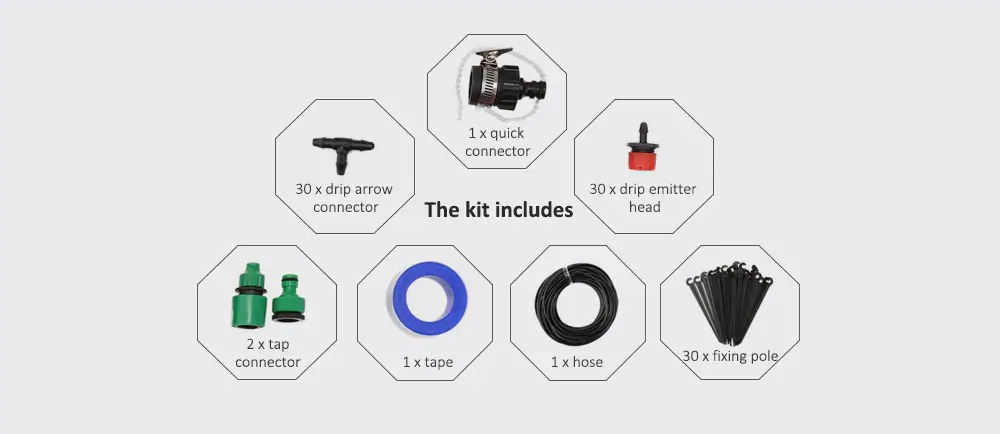 coupon  gearbest  diy drip irrigation tool kit automatic watering system set