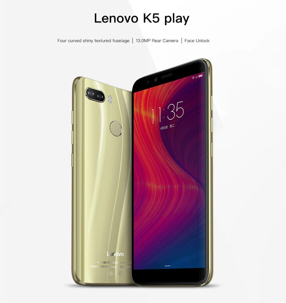 banggood, kupong, gearbest, Lenovo K5 spille 4G Phablet
