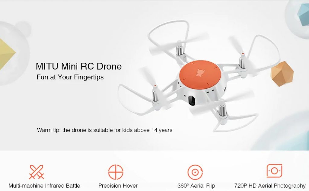 gearvita, Xiaomi MITU WiFi FPV 720P HD Camera Mini RC Drone - BNF - WHITE, coupon, GearBest