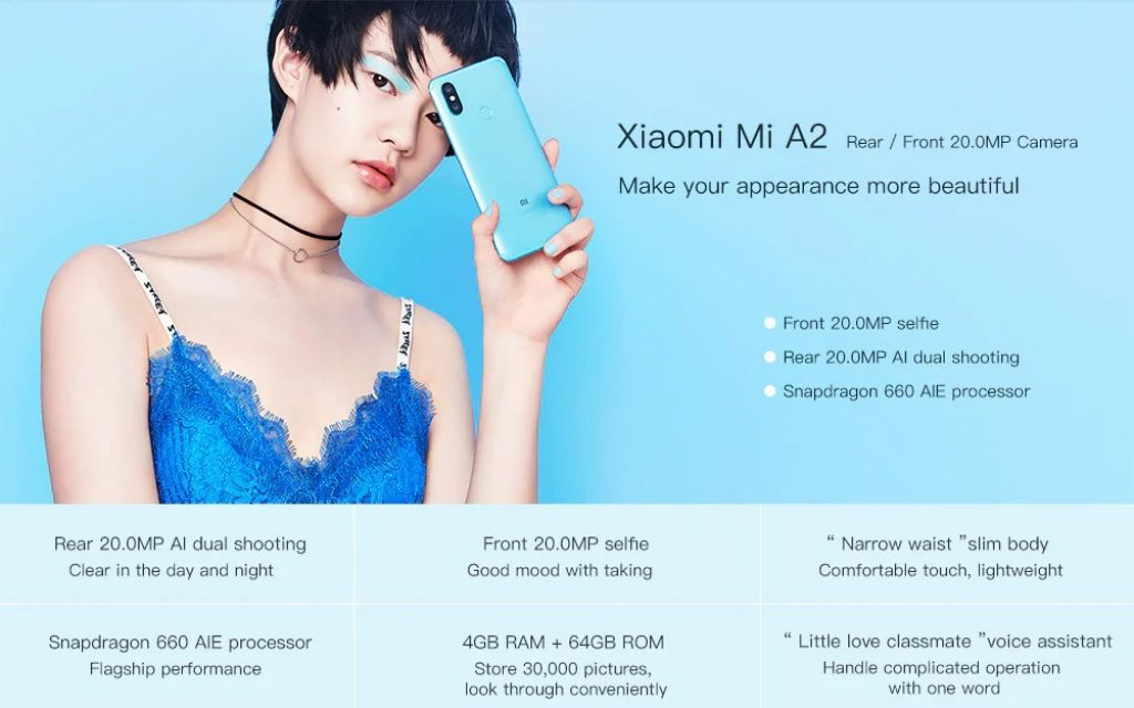 €227 with coupon for Xiaomi Mi A2 Global Version 6GB RAM