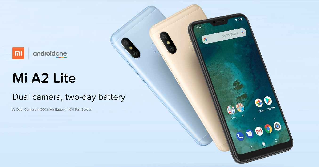 תוצאת תמונה עבור Xiaomi Mi A2 Lite