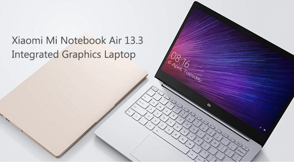 coupon, gearbest, Xiaomi Mi Notebook Air 13.3 Laptop Fingerprint Recognition Integrated Graphics