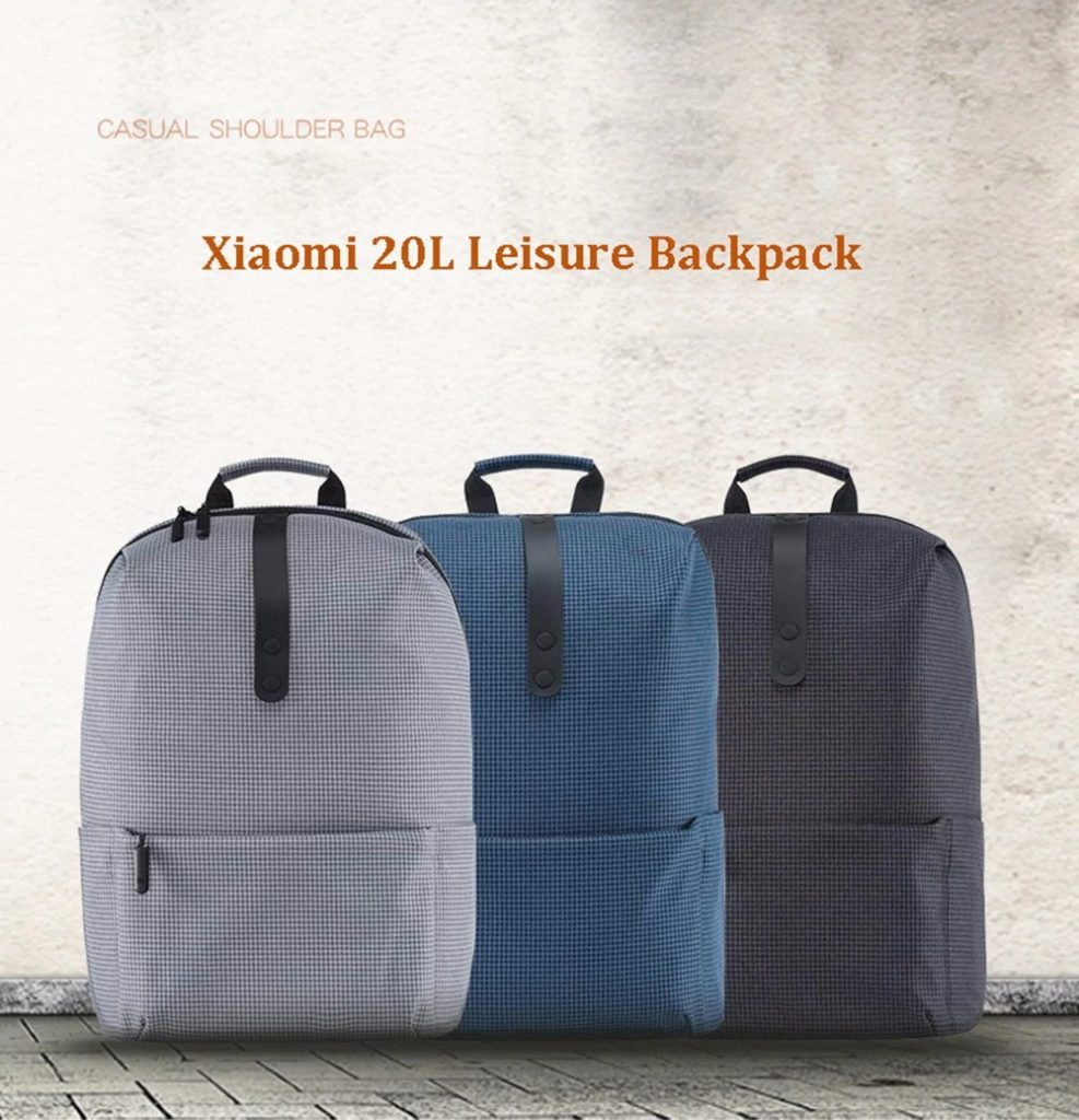 22 with coupon for Xiaomi Stylish Plaid Water-resistant School Laptop  Backpack – BLACK from GearBest 31d46b70c37e5