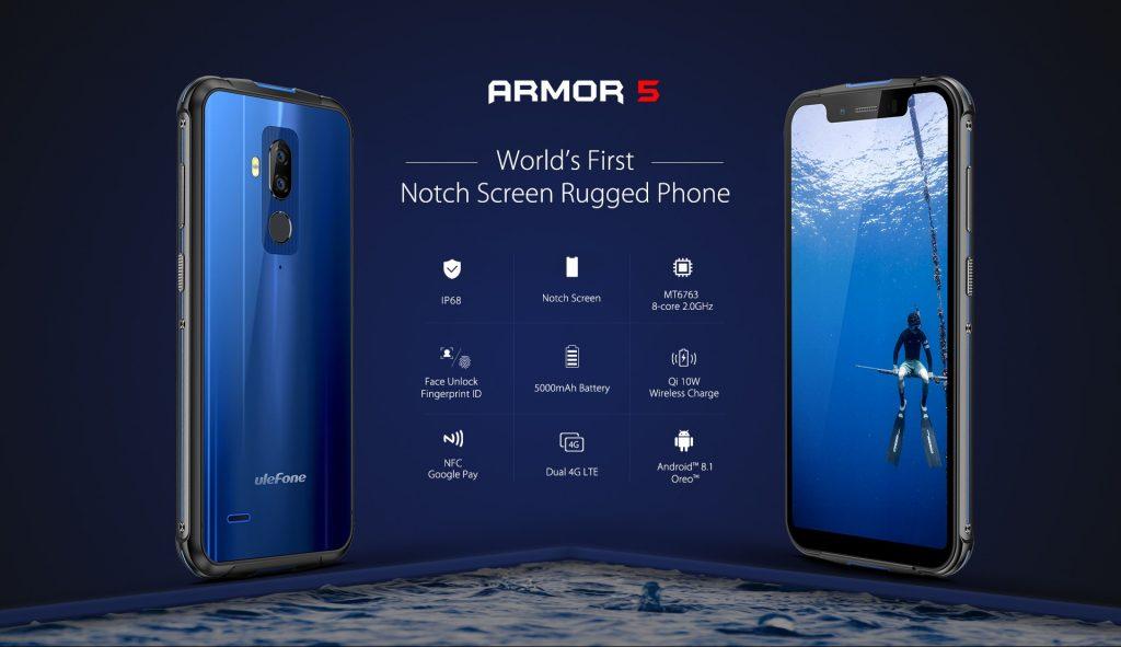 banggood, ulefone armor 5 smartphone