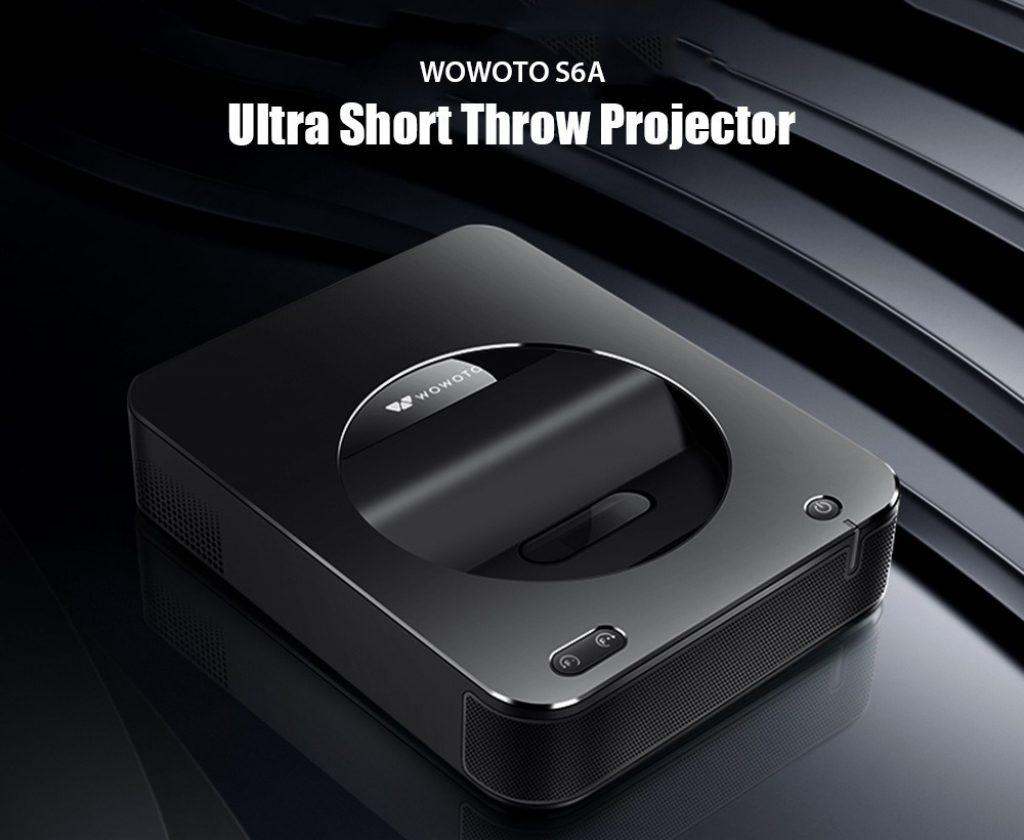 phiếu giảm giá, gearbest, wowoto S6A Siêu ngắn Throw 1000 ANSI Lumens DLP Projector