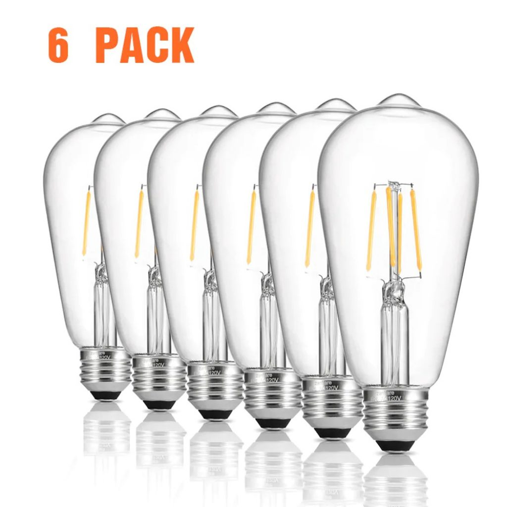 coupon, gearbest, zanflare LED ST64 Filament Lamp