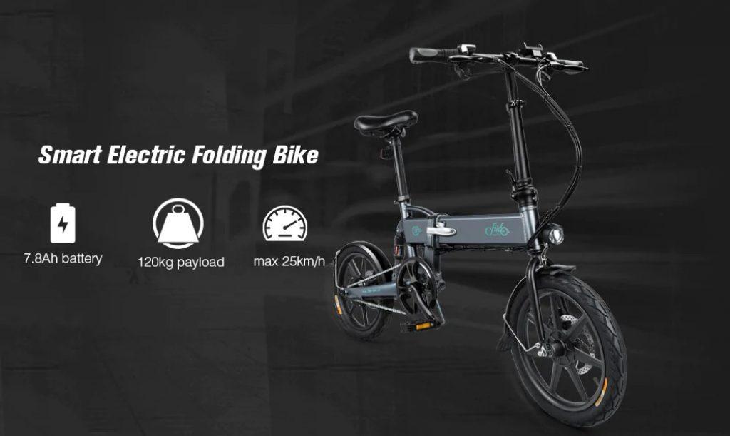phiếu giảm giá, gearbest, FIIDO D2 Gấp Xe Máy Xe Đạp Điện E-bike
