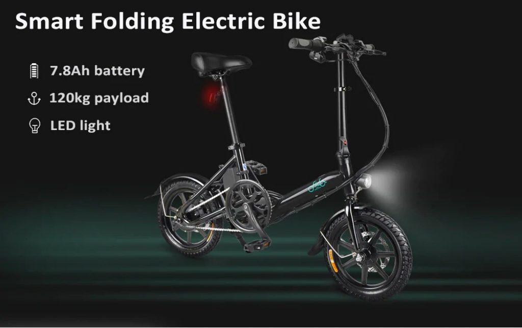 coupon, gearbest, FIIDO D3 Mini Aluminum Alloy Smart Folding Electric Bike