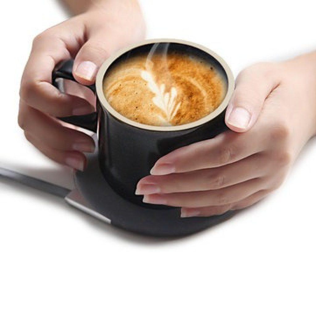 Phiếu giảm giá, banggood, XIAOMI VH Sạc Không Dây Cốc Điện Cốc Cà Phê Phong Cách Nhật Bản Mugs Gốm Sứ Coffee Mug Với Chiếc Đĩa Drinkware Set