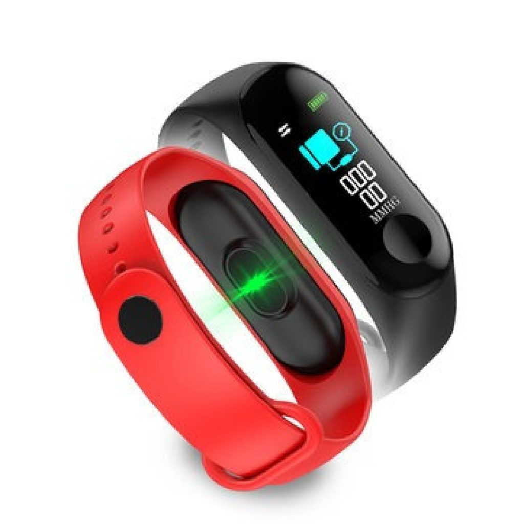 9 With Coupon For Bakeey M3 Color Screen Smart Watch Heart Rate And Wristband F1 Plus Original Bracelet Banggood Blood Pressure Monitor