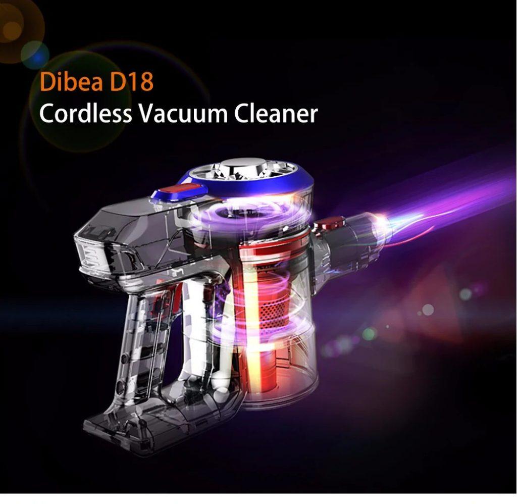 coupon, gearbest, Dibea D18 Handheld Vacuum Cleaner