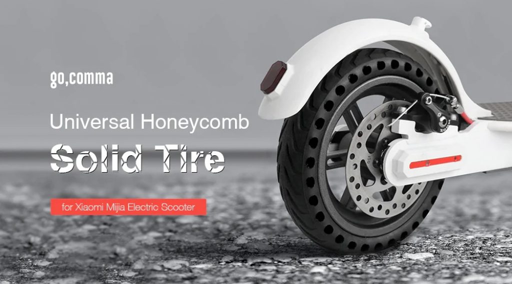 coupon, gearbest, Gocomma Solid Tire for Xiaomi M365 Electric Scooter