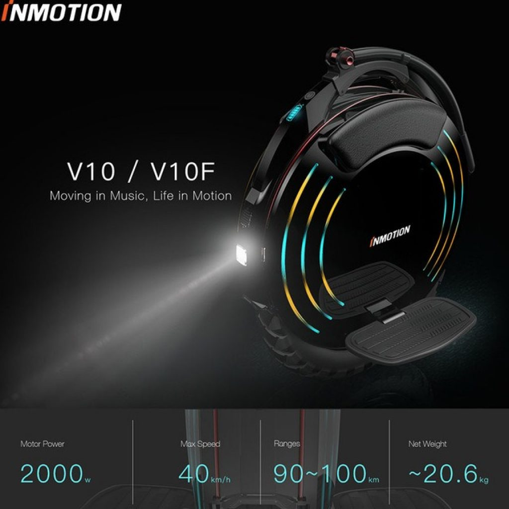 coupon, gearbest, INMOTION V10 Electric Unicycle Balance Car