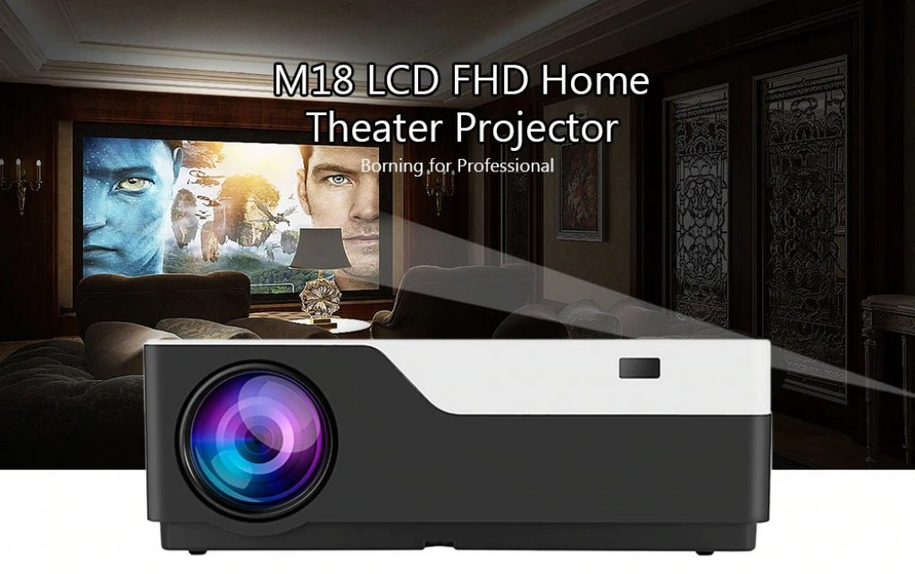 coupon, gearbest, M18 LCD FHD Home Theater Projector