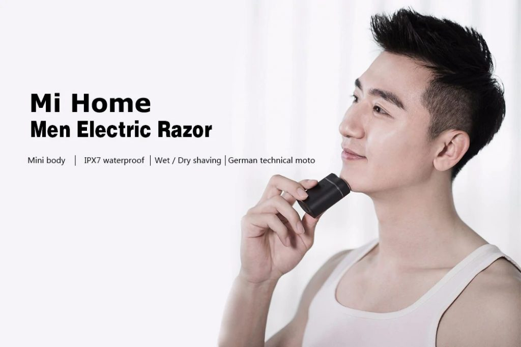 coupon, gearbest, Mi Home Waterproof Rechargeable Men Electric Razor from Xiaomi Youpin