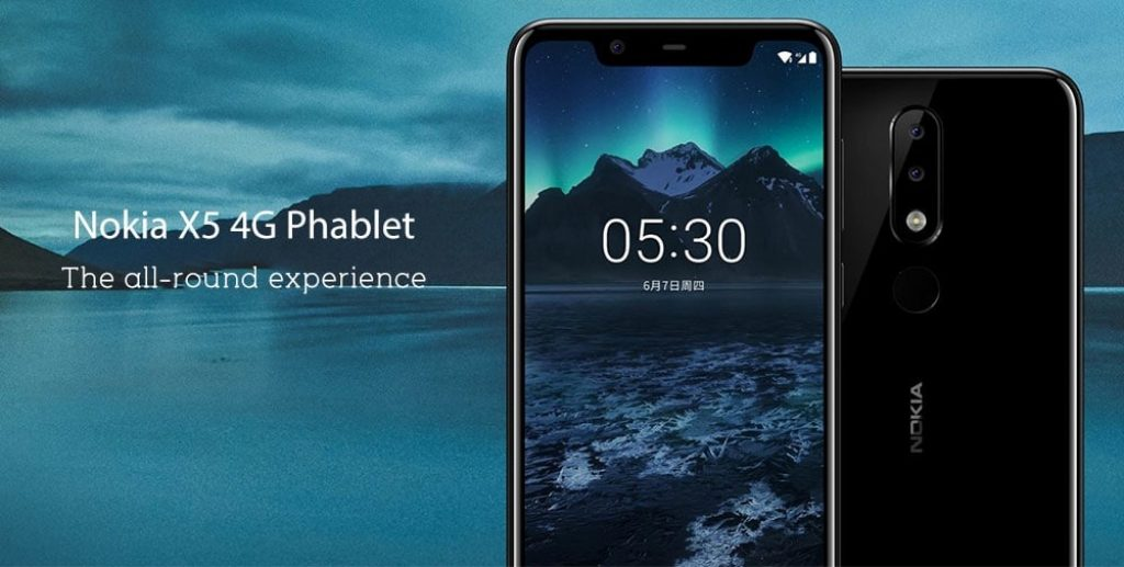coupon, gearbest, Nokia X5 4G Phablet 5.86 inch Android 8.1 Helio P60 Octa Core 3GB RAM 32GB ROM