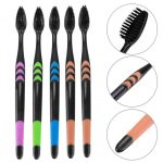 coupon, gearbest, Soft Bristles Bamboo Charcoal Nano Toothbrush 5-color Design 10pcs