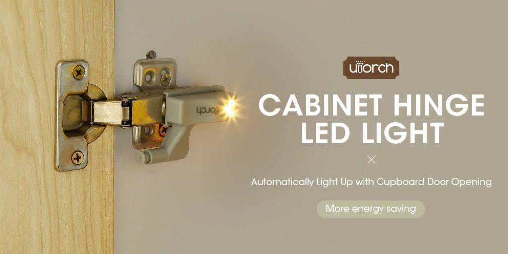 coupon, gearbest, Utorch Cabinet Hinge LED Sensor Light