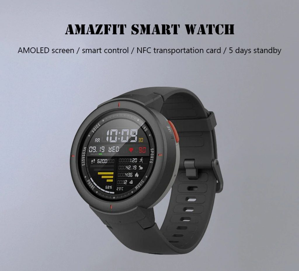 coupon, gearbest, Xiaomi Amazfit 1.3 inch Smart Watch