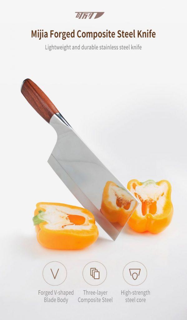 phiếu giảm giá, gearbest, Xiaomi Mijia Butcher Dao Thép Không Gỉ Dao Nhà Bếp Đa Năng Sử Dụng cho Nhà Bếp hoặc Nhà Hàng
