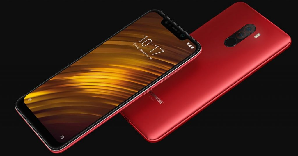 coupon, gearbest, Xiaomi Pocophone F1 6.18 inch 4G Phablet RED