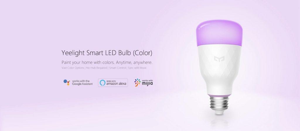 κουπόνι, banggood, Xiaomi Yeelight YLDP06YL E26 E27 10W Έξυπνη λάμπα LED RGBW Μπαταρία Wifi Ελέγχου εφαρμογής AC100-240V - E27