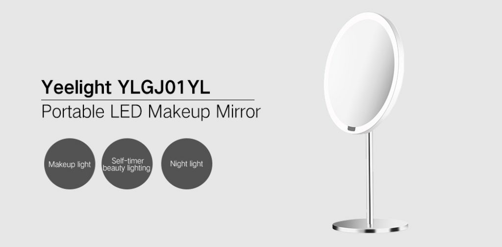 coupon, banggood, Xiaomi Yeelight YLGJ01YL Portable LED Makeup Mirror with Light Dimmable Motion Sensor