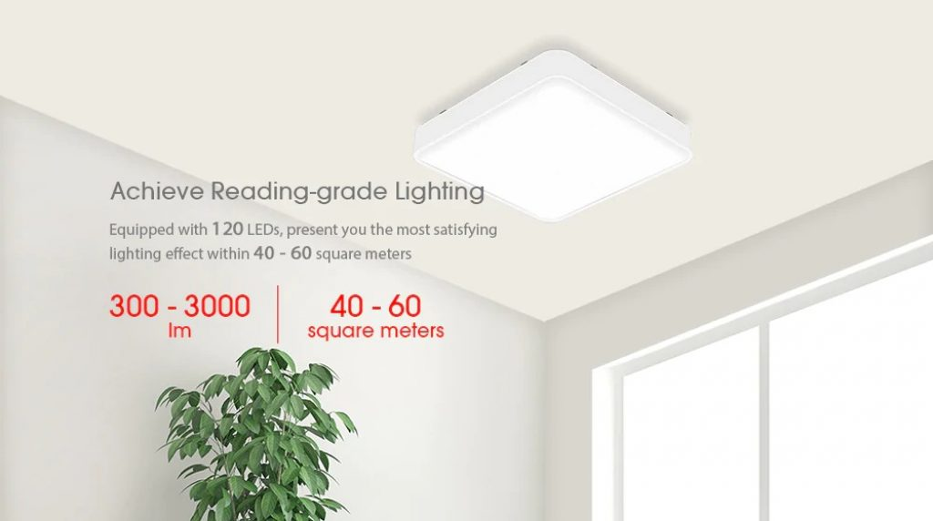 coupon, gearbest, Yeelight Smart Square LED Ceiling Light