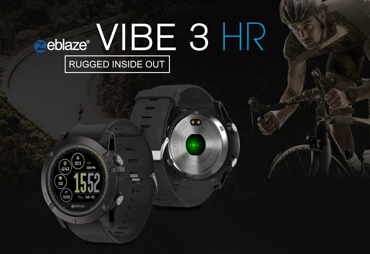 122f1bfe3df $23 with coupon for Zeblaze VIBE 3 HR 1.22 inch Sports Smart Watch – BLACK  from GearBest