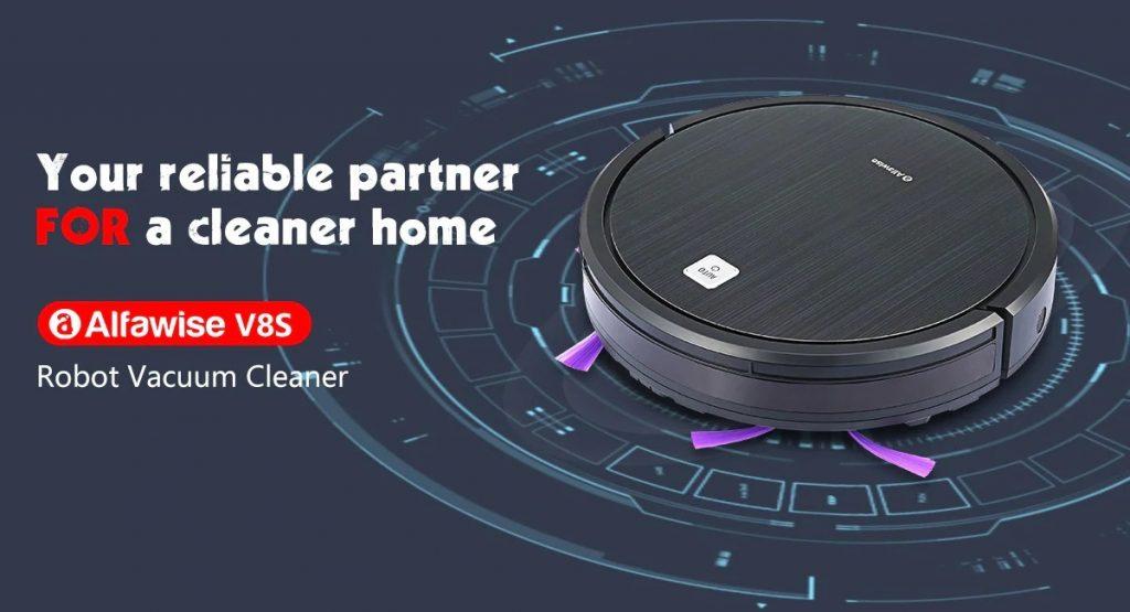 coupon, gearbest, Robot Aspirateur Alfawise V8S Dual SLAM