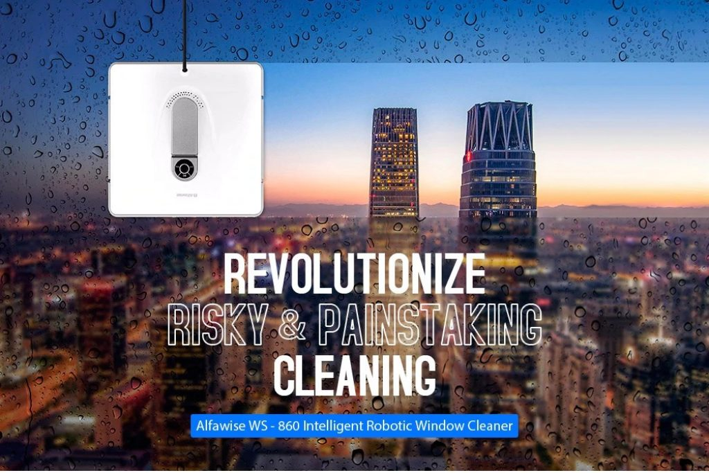 coupon, gearbest, Alfawise WS - 860 Intelligent Window Cleaner