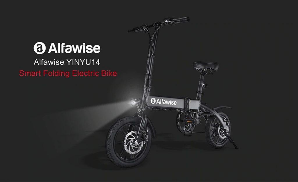קופון, gearbest, אלפאויס X1 קיפול אופניים חשמליים אופני אופניים אופני אופניים