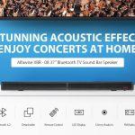 coupon, gearbest, Alfawise XBR - 08 TV Sound Bar Bluetooth 4.2 Speaker