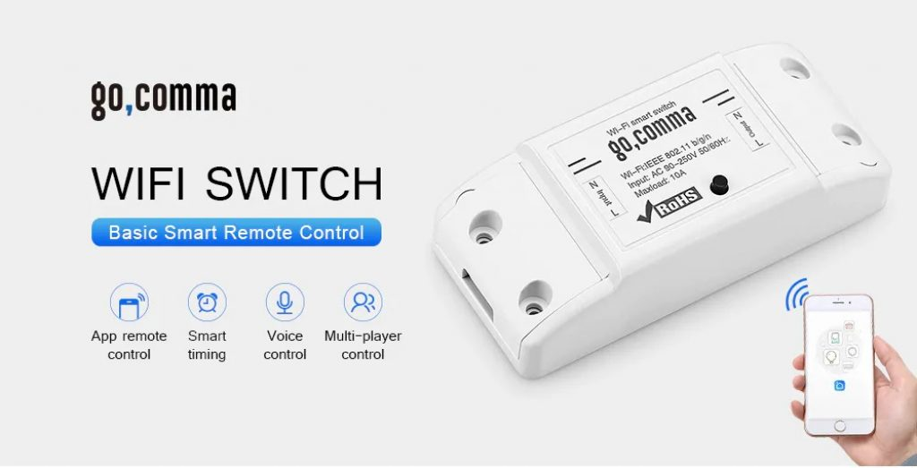 coupon, gearbest, Gocomma Basic Smart Remote Control WiFi Switch