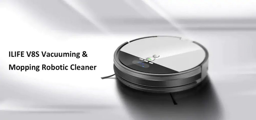 coupon, gearbest, ILIFE V8S Vacuuming Mopping Robotic Cleaner with LCD Display