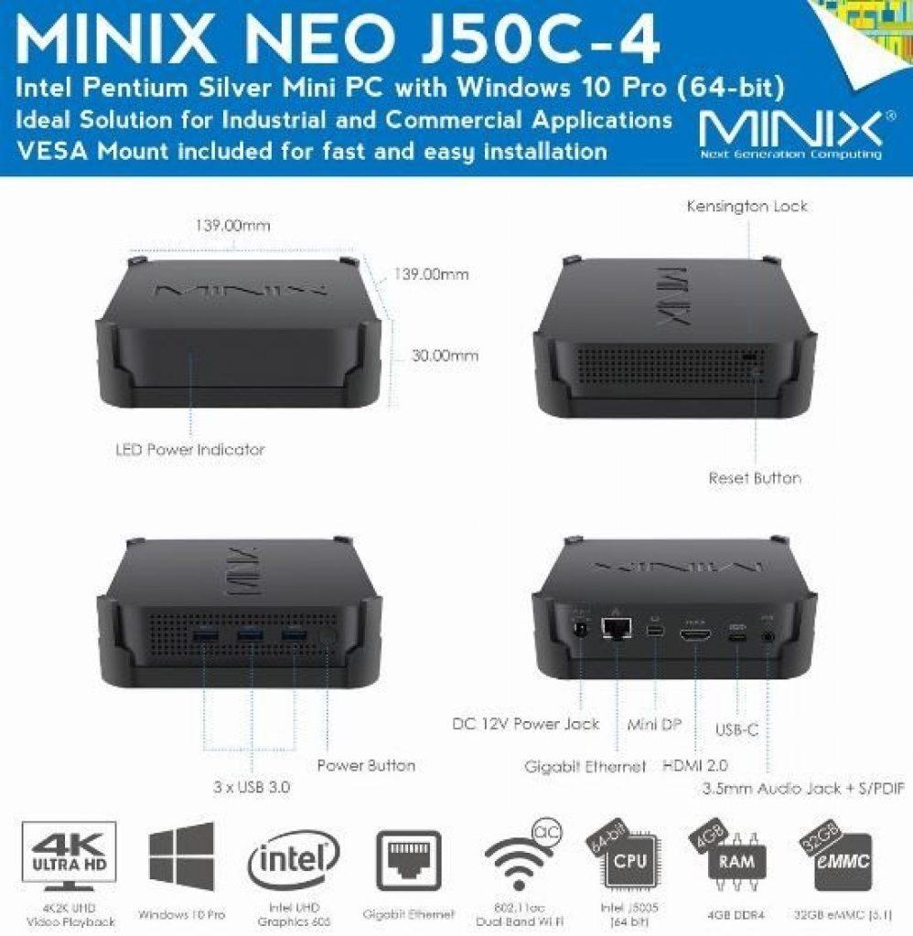 coupon, gearbest, MINIX NEO J50C - 4 Mini PC