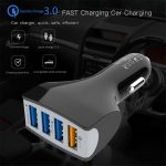 coupon, gearbest, SpedCrd QC3.0 Car Charger Mobile Phone Car-Charger 4 Port USB Car Charger
