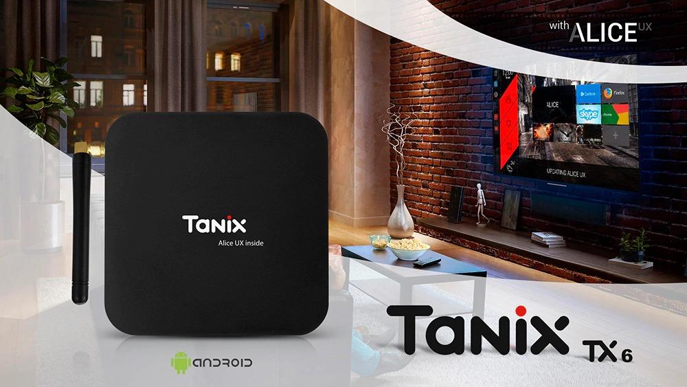 $ 39 med kupong för Tanix TX6 TV Box - SVART EU PLUG från GearBest