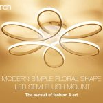 coupon, gearbest, Utorch Modern Simple Floral Shape LED Ceiling Light