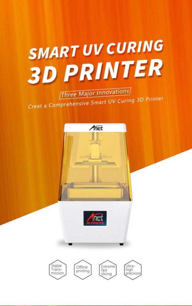 Phiếu giảm giá, gearbest, Anet N4 Máy in LCD mới Photocuring UV 3D