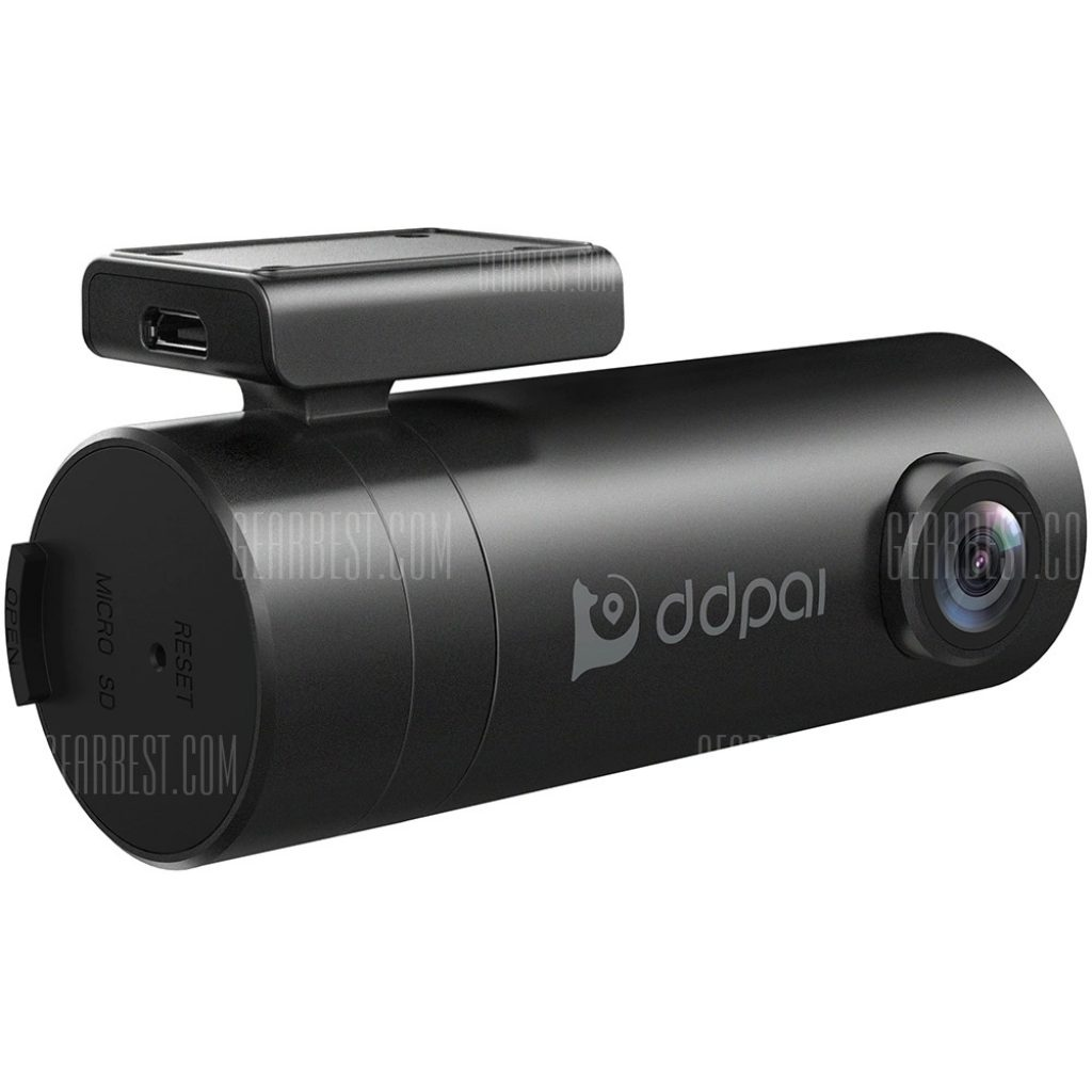 coupon, gearbest, DDPai Mini 1080P 30fps 4-Lane Wide-Angle View Lens Dashboard Car Camera Driving Recorder with G-Sensor Loop Recording WDR