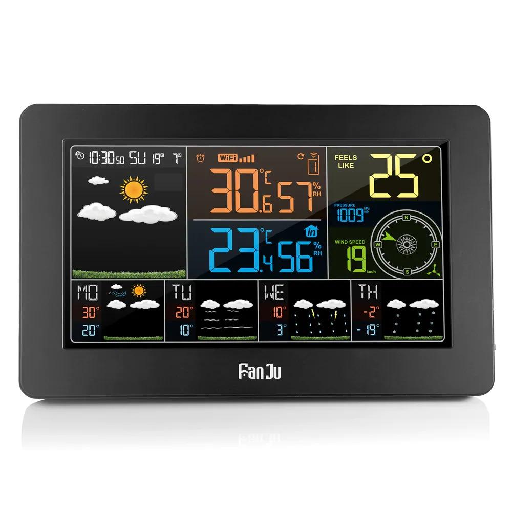 47 с купоном для Fanju Fjw4 Цветная метеостанция Wi Fi с