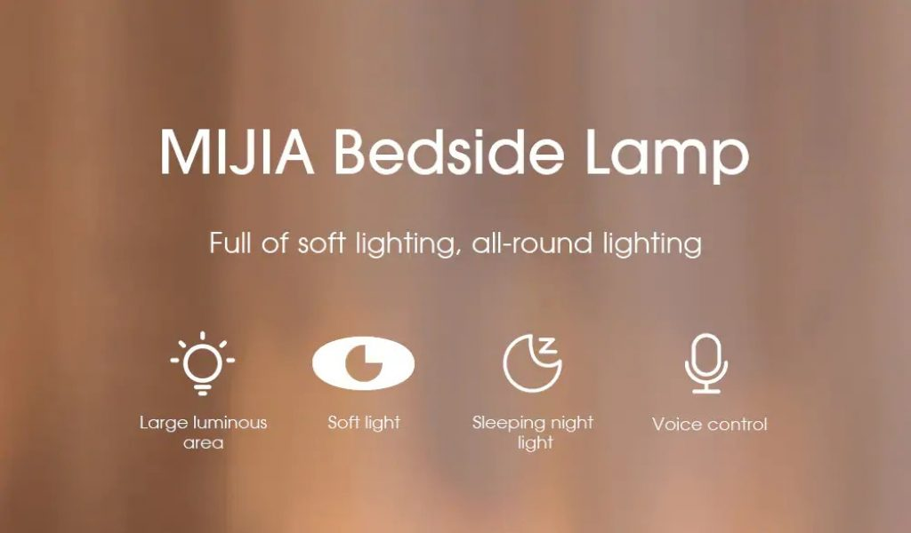 coupon, gearbest, MIJIA MJCTD02YL Simple Shape LED Bedside Lamp for Home