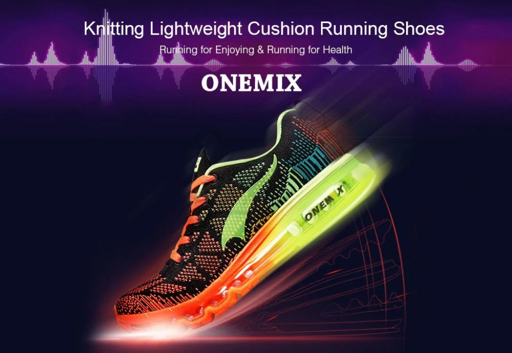 coupon, gearbest, Onemix Knitting Lightweight Cushion Running Shoes