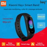 coupon, banggood, Original XIAOMI Hey+ B1800 AMOLED Color Screen NFC 5ATM Waterproof Smart Bracelet Heart Rate Blood Pressure Monitor Smart Watch